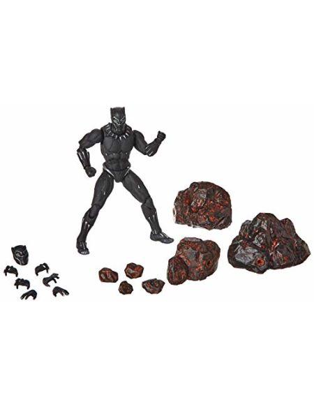BANDAI Black Panther Movie + Set Effets Roche Fig 15cm Marvel Avengers Infinity Wars SH figuarts Multicolore (bdimv291282)