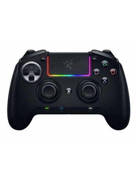 Razer Raiju Ultimate - Manette de Jeu PS4/PC Bluetooth Sans Fil et Filaire avec Boutons d'Action Mecha-Tactile, Composants Interchangeables, Panneau de Contrôle Rapide et Éclairage Chroma RGB