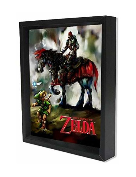 The Legend Of Zelda Poster 3D Young Link & Ganondorf