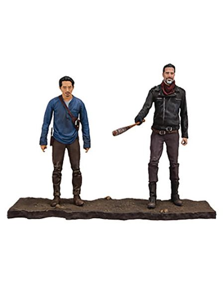 McFarlane- Walking Dead TV Negan/Glenn Pack de 2 Figurines, 787926145182, Standard, 13 cm