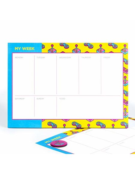 magnétique Planning hebdomadaire par Moutarde Agenda journalier | | magnétique réfrigérateur Planner | Puissance de votre Jour | Design rétro insolite