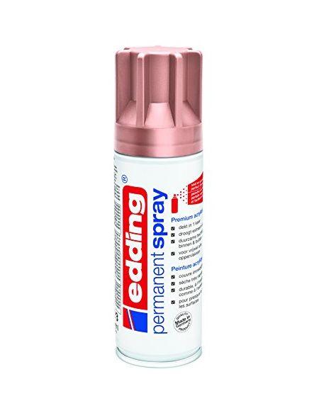 Edding 4-NL5200937 e5200 spray de peinture déco toutes surfaces, Rose Or mat