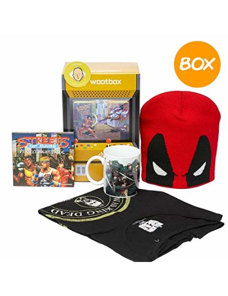 Wootbox Fight - Boîte Cadeau - The Walking Dead - Attack on Titans - Deadpool - Streets of Rage - Taille XL