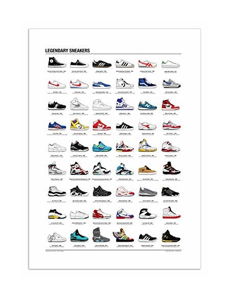 WALL EDITIONS Art-Poster 50 x 70 cm - Legendary Sneakers - Olivier Bourdereau - Format :