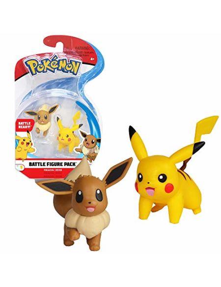 Figurines Pokémon Pikachu et Evoli 5 cm