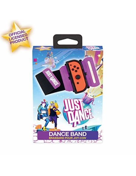 Subsonic - Dance Band officiel Just Dance 2020 - Brassard pour manette JoyCon Nintendo Switch - Bracelet élastique réglable avec emplacement pour Joy-Cons gauche et droit