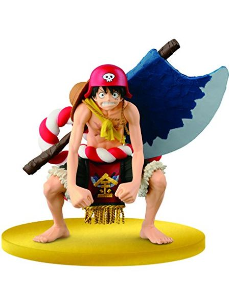 Banpresto- One Piece Luffy Scultures Colosseum Gold Movie Figurine, 4983164366907, 13cm