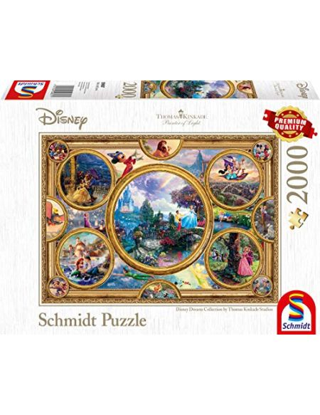 Schmidt Spiele 59607 Puzzle Disney Dreams Collection 2000 pièces Multicolore