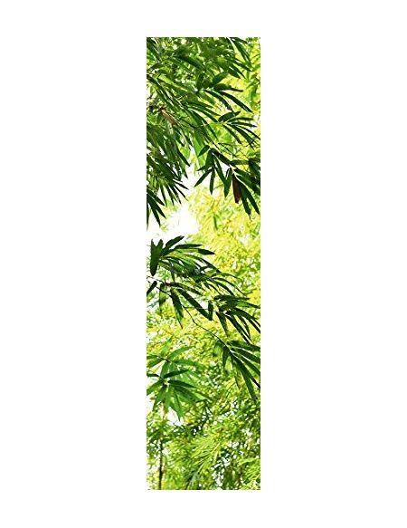 Scenolia Poster Vertical Papier Intissé Feuillage Jungle Tropical Bambou 60 x 240 cm - Déco Photographie Murale Trompe l'Oeil - Pose Facile et Qualité HD