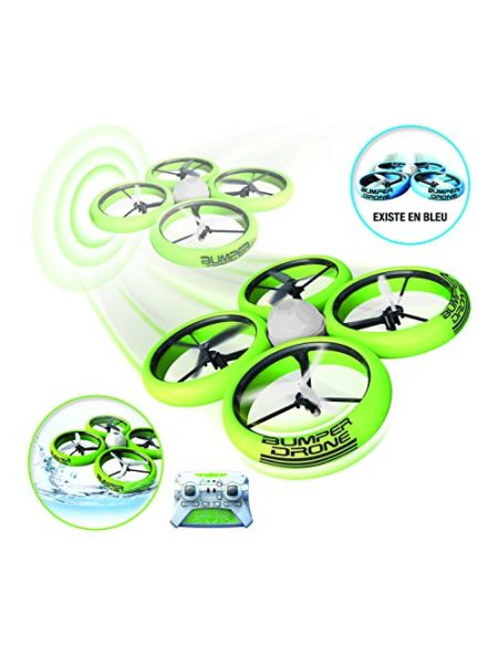 SilverLit - Bumper Drone Incassable - Modèle aléatoire de couleur Bleu ou Vert