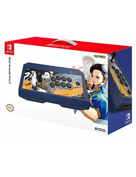 Manette Real Arcade Pro V Street Fighter pour Nintendo Switch - Chun-Li Edition
