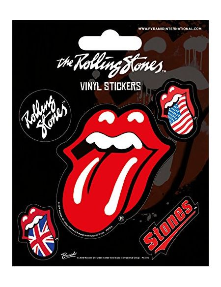 Pyramid International Rolling Stones (Langue) Stickers muraux en Vinyle, Papier, Multicolore, 10 x 12.5 x 1.3 cm