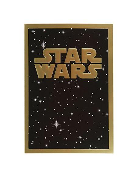 Label M motif contemporain de feuille d'or carte Star Wars