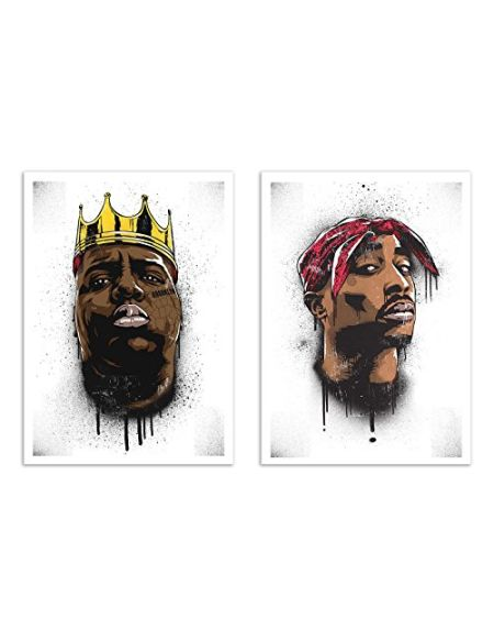 WALL EDITIONS 2 Art-Posters 30 x 40 cm - Biggie and Tupac - Bokkaboom - Format :