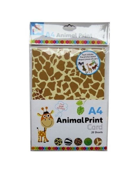 Anker Ensemble d'accessoires pour créer des Arts et crafts Carte Imprimé Animal, en plastique, couleurs assorties, A4, feuille de 20
