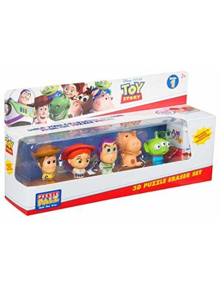 Sambro Figurines à collectionner Disney Toy Story4 - Avec Woody, Buzz, Alien, Bayonne et Jessie - Construisez vos propres personnages avec des pièces de puzzle   À partir de 3ans   1figurine cachée