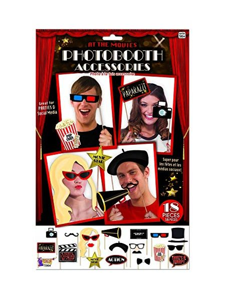 Forum Novelties 75904 Hollywood at the Movies Photo Booth kit