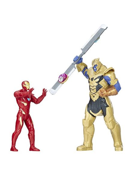 Marvel Avengers Marvel Heroes Figurine Avengers Infinity War Thanos Vs Iron Man Battle Set, E0559