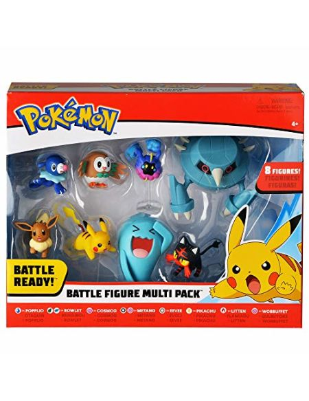 Pack de 8 Figurines Pokémon