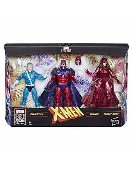 Marvel 80e anniversaire Legends Series - Edition Collector - Figurines 15 cm Quicksilver, Magneto & Scarlet Witch de X-Men