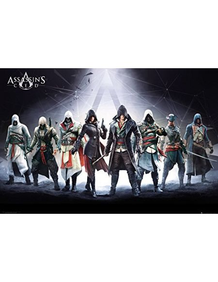 GB Eye Poster représentant Les Personnages d'Assassins Creed Grand Format 61 x 91,5 cm