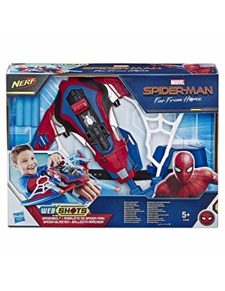 Marvel Spider-Man Far From Home - Arbalète de Spider-Man Technologie Nerf - Jouet Spider-Man