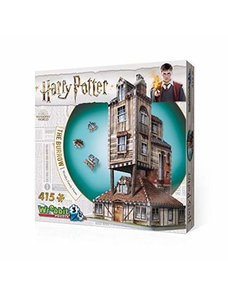 Harry Potter The Burrow The Weasley's Family Home 3D Puzzle (415 Pieces)