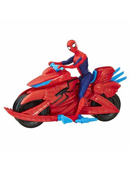 Marvel Spider-Man - Figurine Spider-Man 15 cm et moto- Jouet Spider-Man