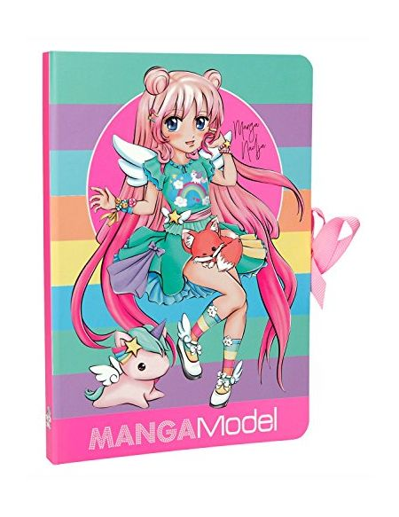 Depesche 6584 Notes, Notes to Go Manga Model, Multicolore