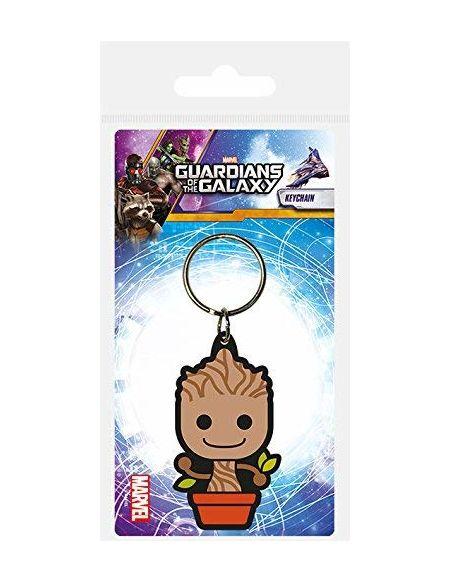 Marvel Guardians of The Galaxy Porte-clés en Caoutchouc Baby Groot 6cm Pyramid International