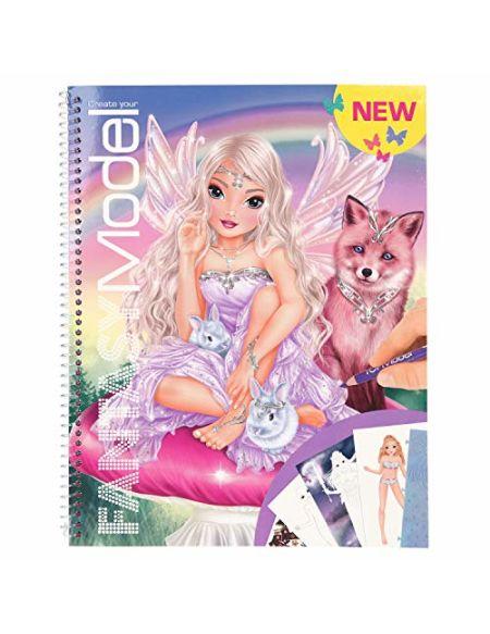 Depesche 10726 Livre de coloriage pour créer Votre modèle Fantaisie env. 29 x 23 x 1,5 cm, Multicolore