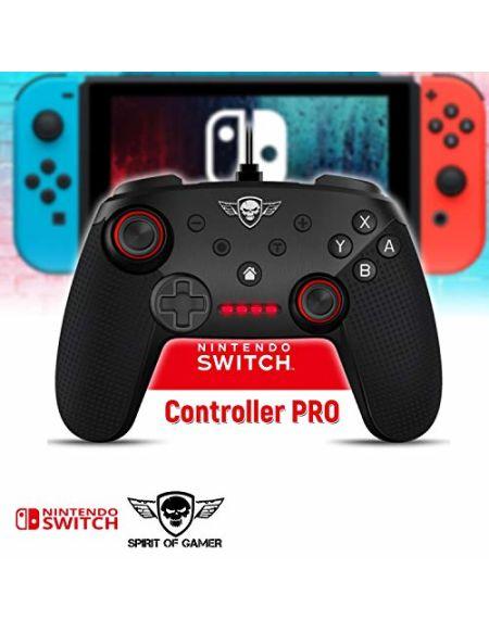 Spirit Télécommande pour Nintendo Switch of Gamer Pro CRUCETTE Precision 2 Sticks ANALOGIQUES 16 Boutons