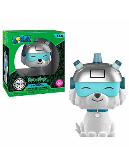 Funko- Rick & Morty-Dorbz Snowball Flocked (3041830158), Multicolore (Extended Play 1)