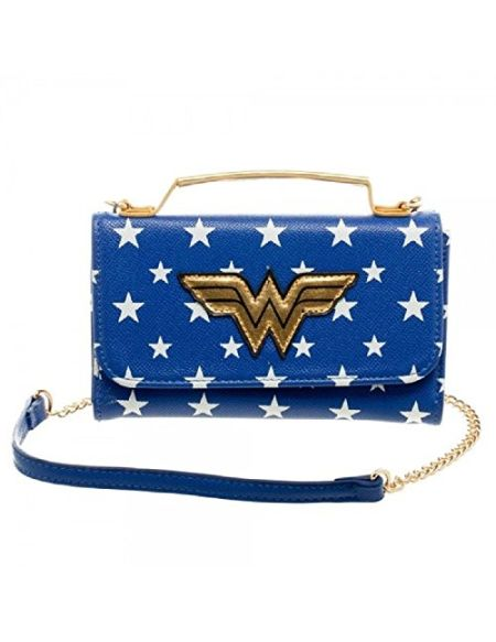 Bioworld Merchandising femme Mini Sac A Main Dc Comics Wonder Woman Pochette Bleu (Bleu)