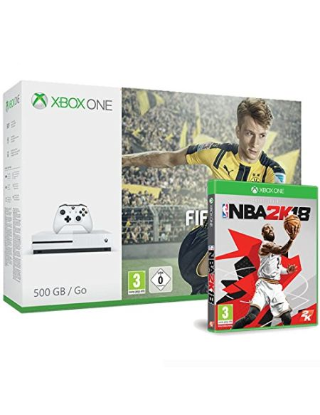 Pack Console Xbox One S 500 Go + Fifa 17 + NBA 2K18