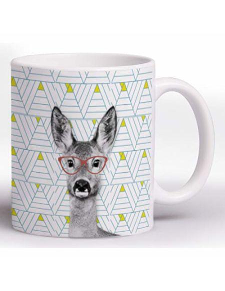Clairefontaine 115488C - Un Mug en céramique Funny Compagny 8 x 9,5 cm, résistant au lave vaisselle, visuel aléatoire