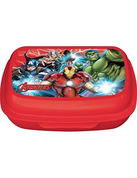 Ciao 33960-Boîte à goûter Avengers, Rouge