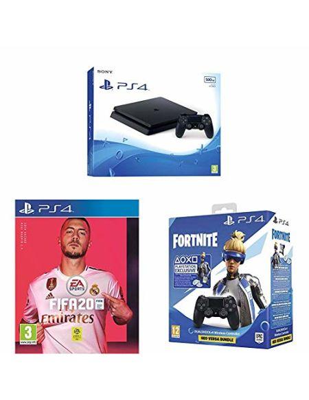 PS4 500 Go noire + 2ème manette + FIFA 20