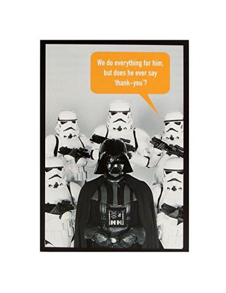 Hallmark Carte de remerciements Thank You Carte de Star Wars 'ne Il Ever Say Thank You?'–Taille M