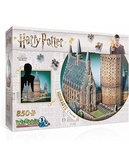 Wrebbit 3D 3D Puzzle, Harry Potter, Hogwarts Hall, W3D-2014