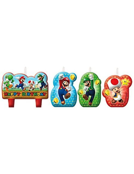 amscan 171554 Bougies Super Mario « Happy Birthday »