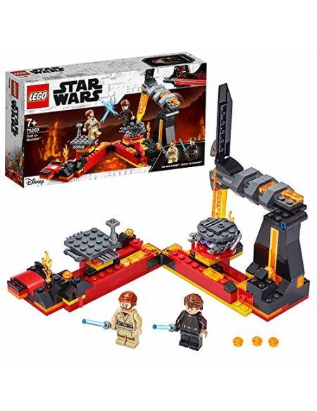 LEGO 75269 Star Wars Le duel on Mustafar, La revanche des Siths, Set de jeu avec les figurines de Luke Skywalker et Obi-Wan Kenobi Minifigures