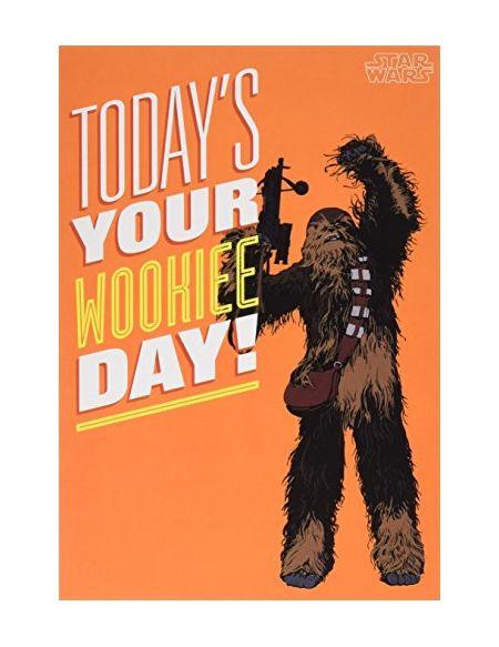 Hallmark Carte Star Wars avec texte en anglais «.Wookie Day»–Format moyen