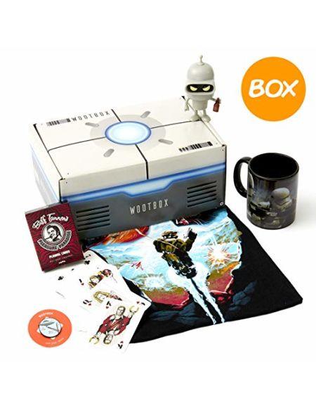 Wootbox Space - Boîte Cadeau - Halo - Futurama - BTTF - Star Wars - Taille M