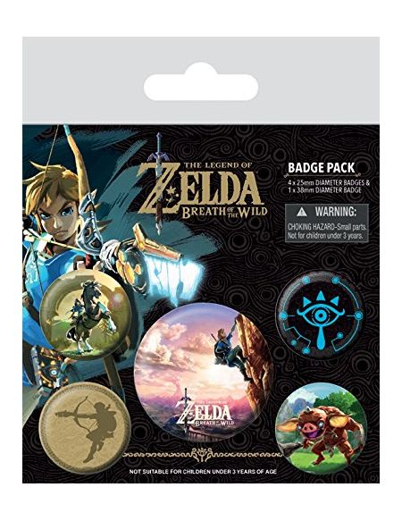 Pyramid International The Legend of Zelda : Breath of The Wild The Climb Badge, Multicolore, 10 x 12.5 x 1.3 cm