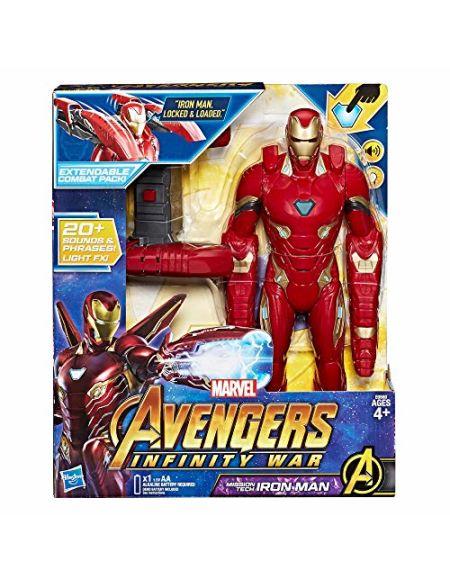 Hasbro Marvel Avengers-Infinity War Iron Man Mission Tech Titan Hero avec Accessoire, Personnage, Figurines, e0560103