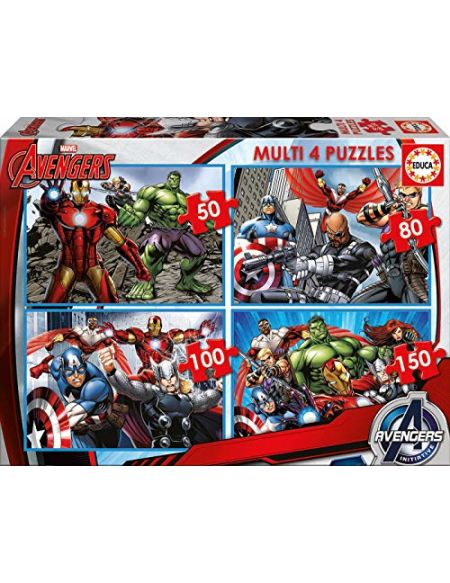 Educa - 16331 - Puzzle Classique - Multi 4 En 1 - The Avengers