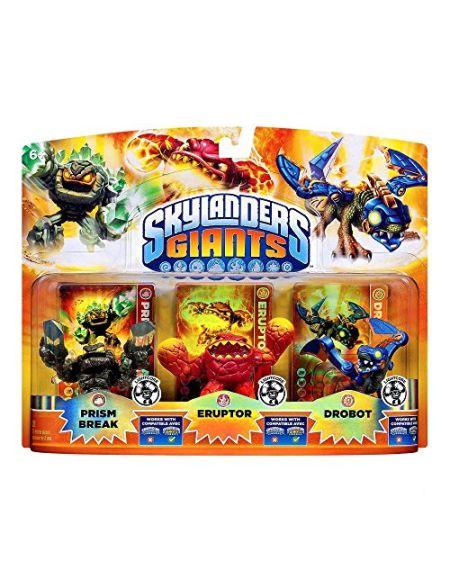 Figurine Skylanders : Giants - Prism Break + Eruptor + Drobot - Lighcore