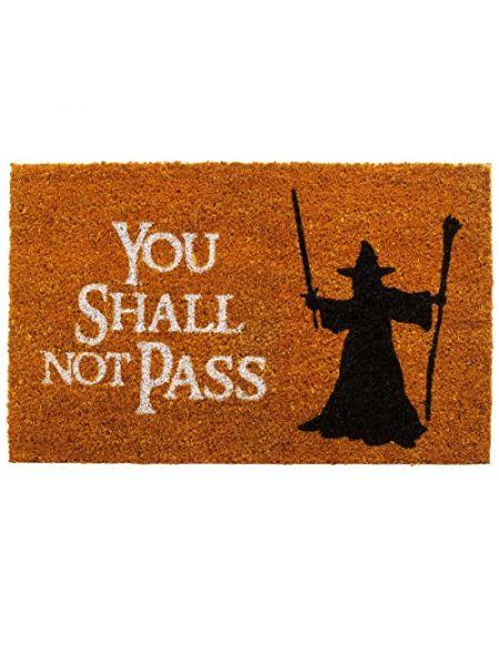 getDigital Paillasson You Shall Not Pass - Tapis de porte de haute qualité avec scène de fantaisie célèbre - Multicolore - 60 x 40 cm