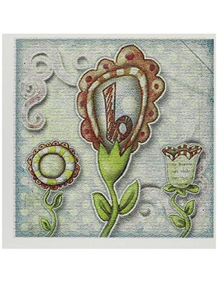 """3drose GC 102779_ 26x 15,2cm""""Cute Fleurs insolite Monogramme Lettre B"""" carte de voeux (lot de 12)"""